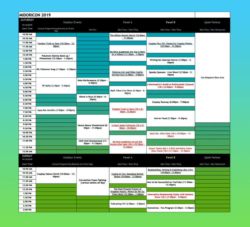 MidoriCon-2019-Schedule-Saturday+Sunday